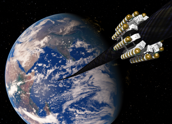 Vahana Space Elevator, Earth