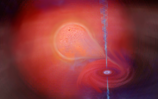 Red Giant and black hole