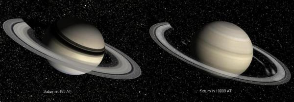 Saturn Before and After